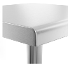 Table inox sans dosseret
